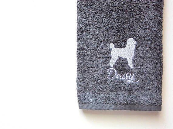 Poodle Towel / Personalized Towel / Monogrammed Towel / Hand