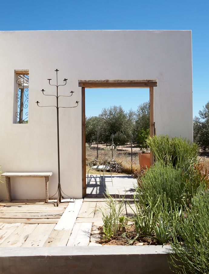 An exterior wall shields the pool in this Charming Karoo Home | House and Leisure