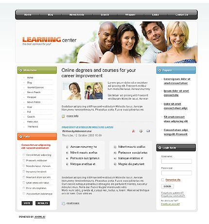 Learning Education Joomla Templates by Di