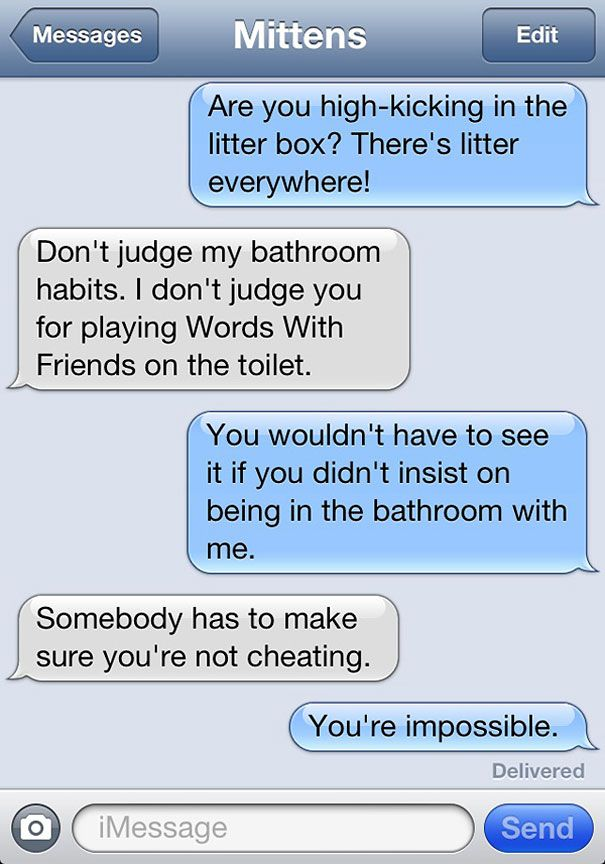 Text From Cat mittens | Texts From Mittens: What If Cats Could Text? originally appeared on ...