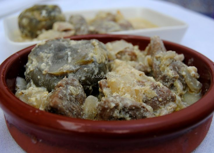 Cordero con Alcachofas (Arnáki me Angináres)   Asopaipas. Recetas de Cocina Casera .