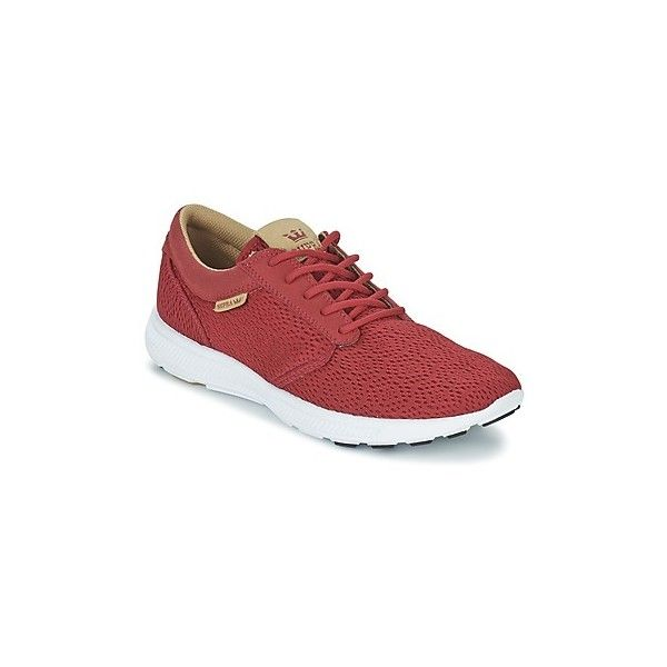 Supra HAMMER RUN Shoes (1,625 MXN) ❤ liked on Polyvore featuring shoes, red, low profile shoes, supra shoes, supra footwear, rubber shoes and low top