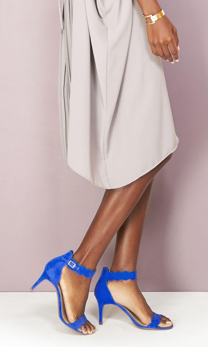 Cobalt Blue Mid Heel Shoes