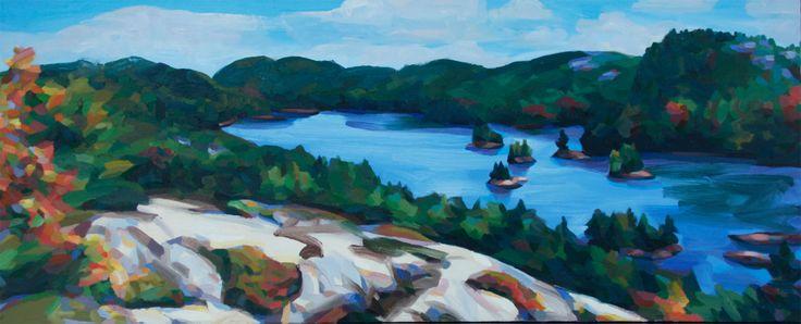 Grace Lake Islands #2 Oil on Canvas 24 X 60
