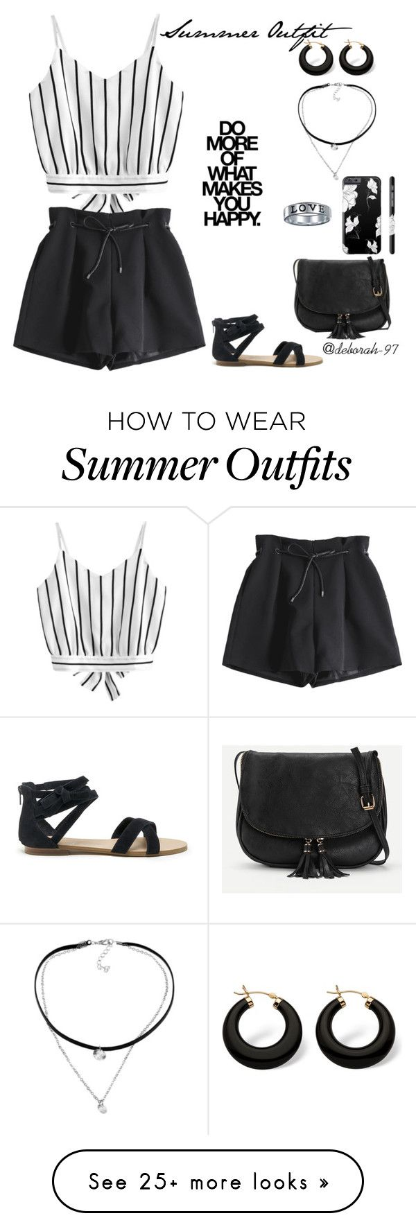 """Summer Outfit #4"" by deborah-97 on Polyvore featuring Sole Society, Palm Beach Jewelry, WithChic and Bling Jewelry"