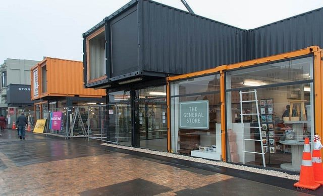Modern Container Houses On Instagram A Store Made From Containers Containerhouse Containerhouse Container Architecture Container House Container Office