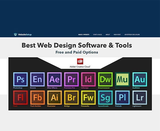 Best Web Design Software &Tools  Free and Paid Options  http:bit.ly/2w85bTr  #webtools #webdesign #webdeveloper #webdevelopment #adobe #graphicdesigner #graphicdesign #seo #infographic #onlineadvertising #internetmarketing #digitalmarketing #webdesignfeedback #socialmedia #socialmediamarketing #websoftware #software