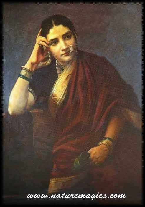 beautiful gypsy paintings and photos   Raja Ravi Varma's Painting of a North Indian Lady