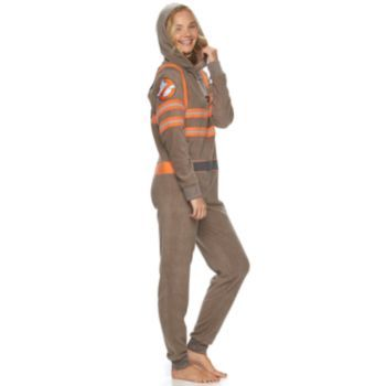 Juniors' Ghostbusters Uniform Costume One-Piece Pajamas