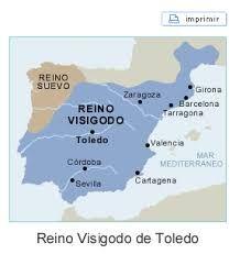 Resultado de imagen de mapas de españa en los visigodos