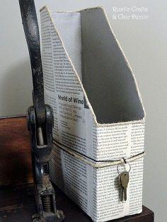 cereal box paper holder, diy home crafts