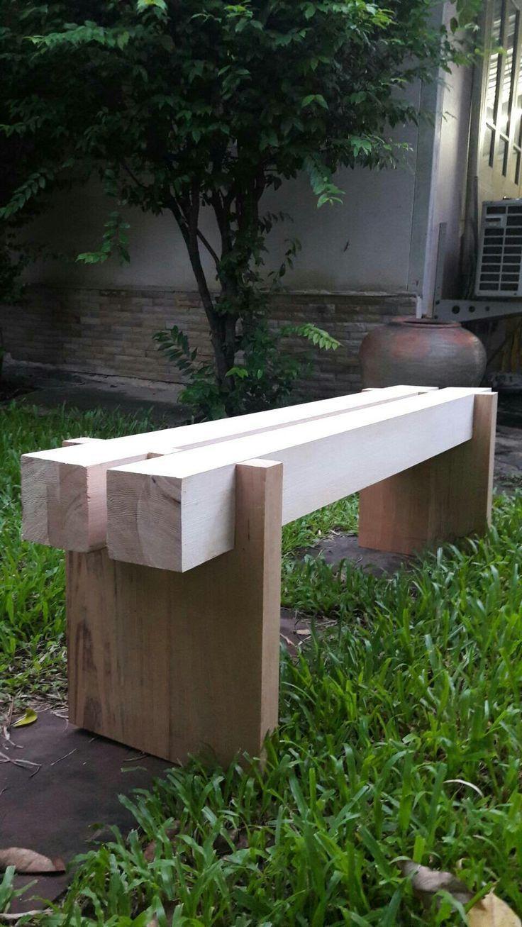 Zwei Holzarten Bank Art Wood Holzart Gardens Projects Diy Gartenmobel Hintergarten Diy Holz