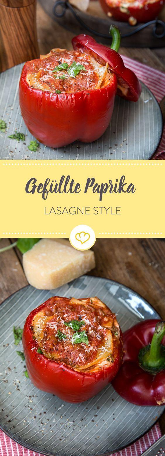 Du willst deine Freunde mal so richtig irritieren? Dann verstecke die Lasagne in Paprika. Spannender und witziger kann kein Dinner verlaufen.