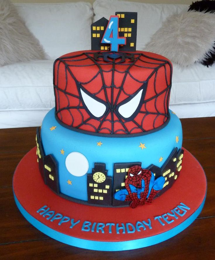 32 best Spiderman Cakes images on Pinterest Spider man cakes