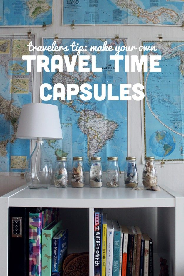 Make a travel time capsule of your adventures. Tutorial on Lauren-Likes Blog