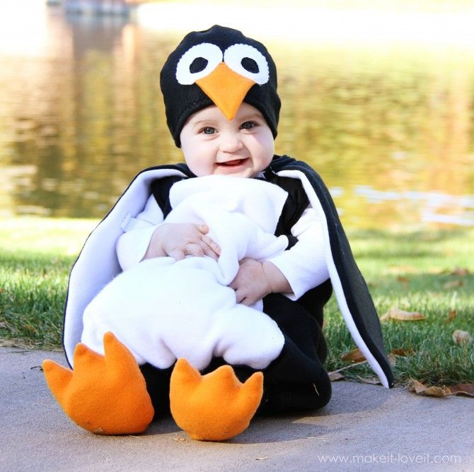 Tutorial on how to make this ADORABLE penguin costume for baby!