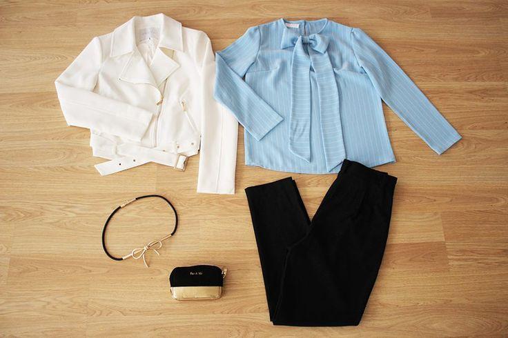 ¿QUÉ ME PONGO? LOOK #colettemoda de lo más elegante y chic con nuestra novedad estrella!  BLUSA RAYAS LAZADA > http://www.colettemoda.com/producto/blusa-rayas-lazada/