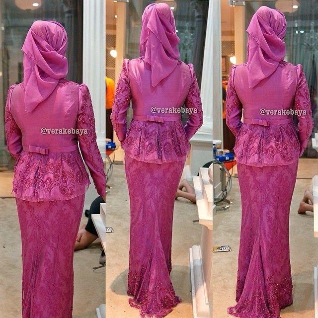 Fitting... #partydress #hijab #hijabi #hijabers #hijabstyle #hijabfashion #muslimwear #jilbab #lace #lacelovers #kebaya #beads #swarovskicrystals #verakebaya
