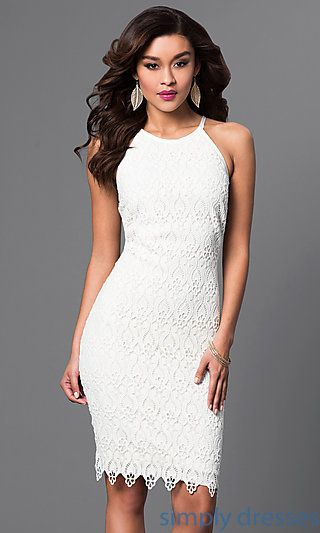 The 25  best White lace cocktail dress ideas on Pinterest | Lace ...