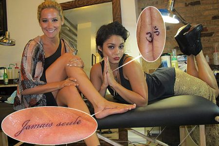 Vanessa Hudgens and Ashley Tisdale tattoos