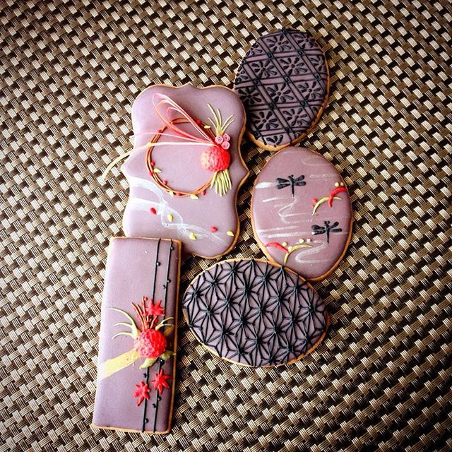 Japanese autumn cookies 秋のクッキー。9月のワークショップサンプルになります。詳細はブログにアップしてます(^-^)…