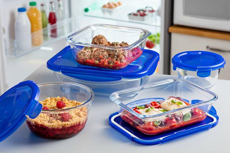 Gamme Cook&Go : plats en verre avec couvercle 4 rabats étanche et hermétique pour une cuisson et une conservation saines