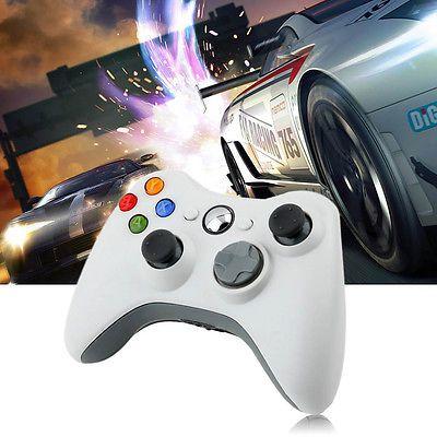 White wired Game Remote Controller for Microsoft Xbox 360 Console bundle WO