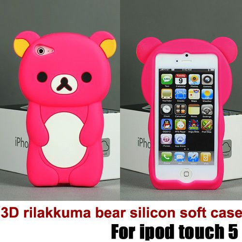 new arrival cute 3D rilakkuma bear silicon soft case for ipod touch 5, with retail packaging free shipping-in Phone Bags & Cases from Phones & Telecommunications on Aliexpress.com