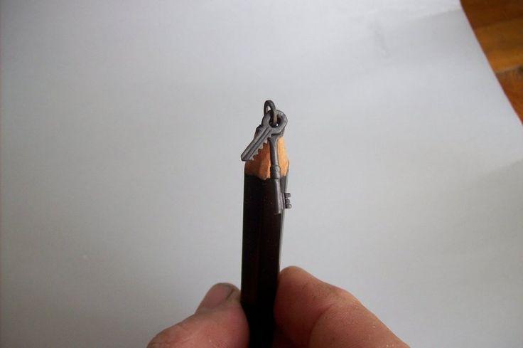 pencil carving key ring by cerkahegyzo.deviantart.com on @DeviantArt