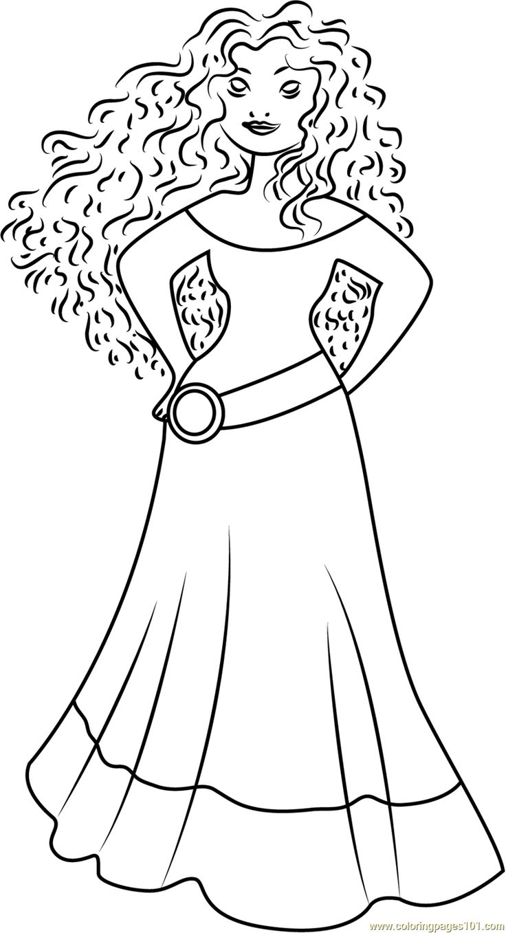 Coloring Princess Merida Coloring Page Free Brave Pages ...