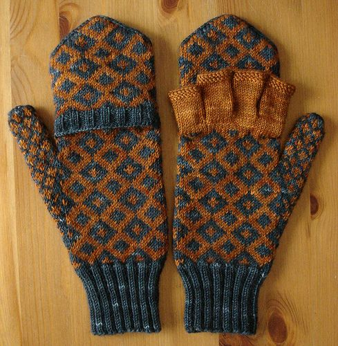 Windsor mitts - open and closed. On Ravelry: http://www.ravelry.com/patterns/library/ix-mitts