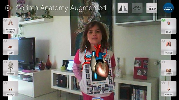 Corinth Micro Anatomy Augmented // provides the user the opportunity to better understand human anatomy through sharp visual, interactive, and augmented reality content. By allowing the user to layer different anatomy systems, he/she can grasp concepts and visually absorb how those systems work independently, and with one another. For augmented reality you need camera, and target - paper printed from document linked from application intro (or go to webpage: http://www.ecorinth.com/ar/).