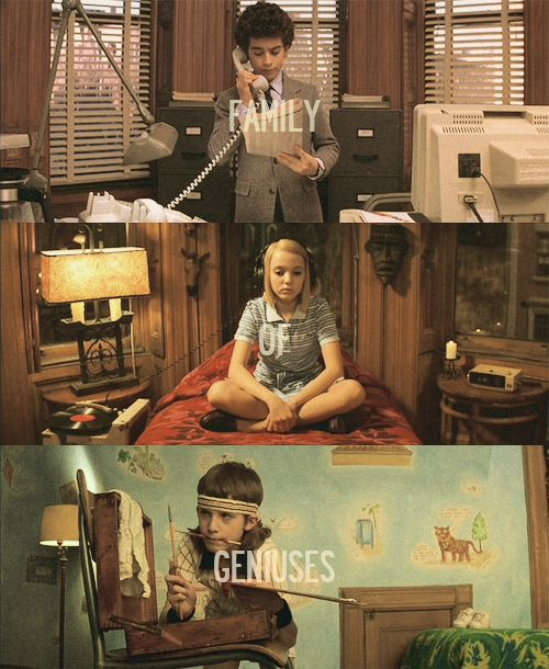 I love the look of the Royal Tenenbaum. The kids rooms are so different, but reflect them so much. Margot's is the BEST!