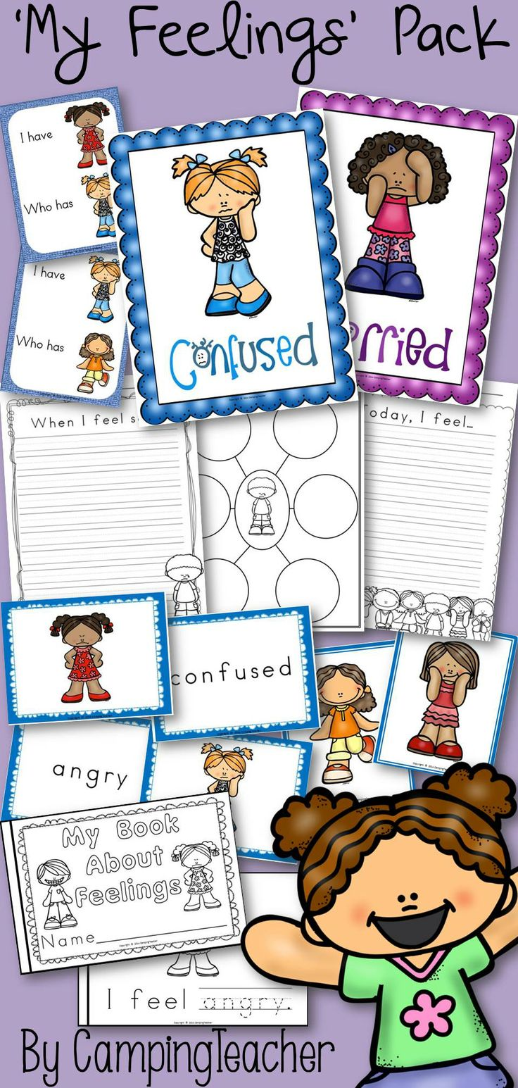 Feelings and emotions posters, printables, activities, games