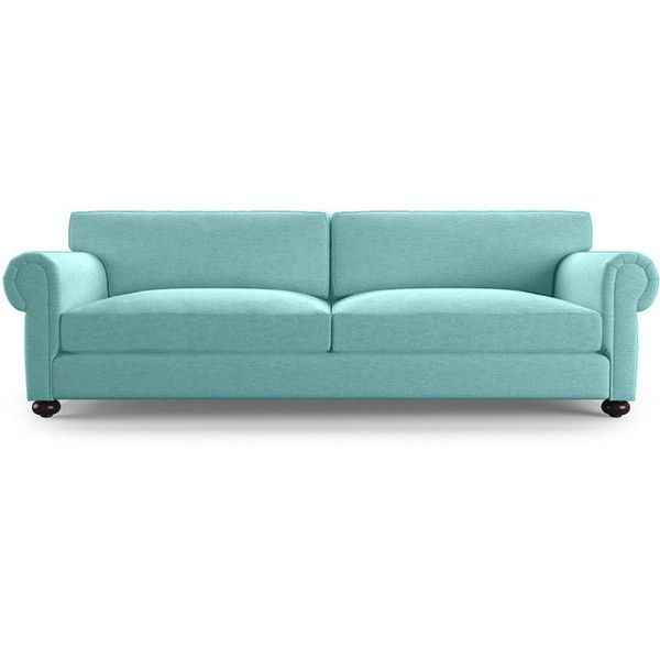 Oliver Mid Century Modern Blue Sleeper Sofa ($2,600) ❤ liked on Polyvore featuring home, furniture, sofas, blue, mid century modern sleeper sofa, blue sofa, mid century sofa bed, mid-century sofa and midcentury modern couch