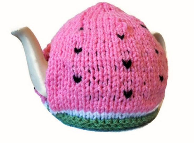 Watermelon Tea Cosy, Hand Knitted Novelty, £13.99