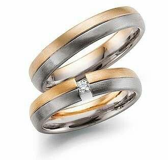 Wedding ring in 18k white & yellow gold