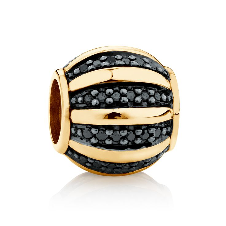 10ct gold and diamond* charm (12536566) #marrakesh #emmaandroe *Coloured and black diamonds are irradiated and heat treated, respectively, to permanently enhance colour and may be sensitive to heat.