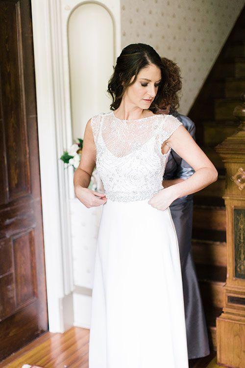 Beaded Sarah Seven Wedding Dress | Brides.com