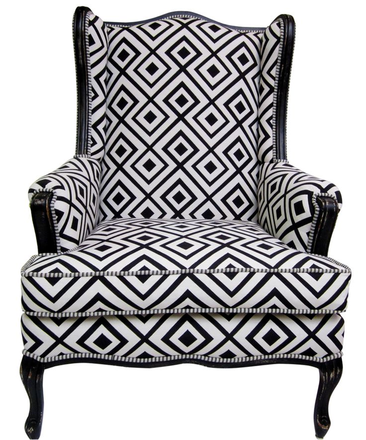 black and white wing chairs pricing black and white geometric wing chair wing chair
