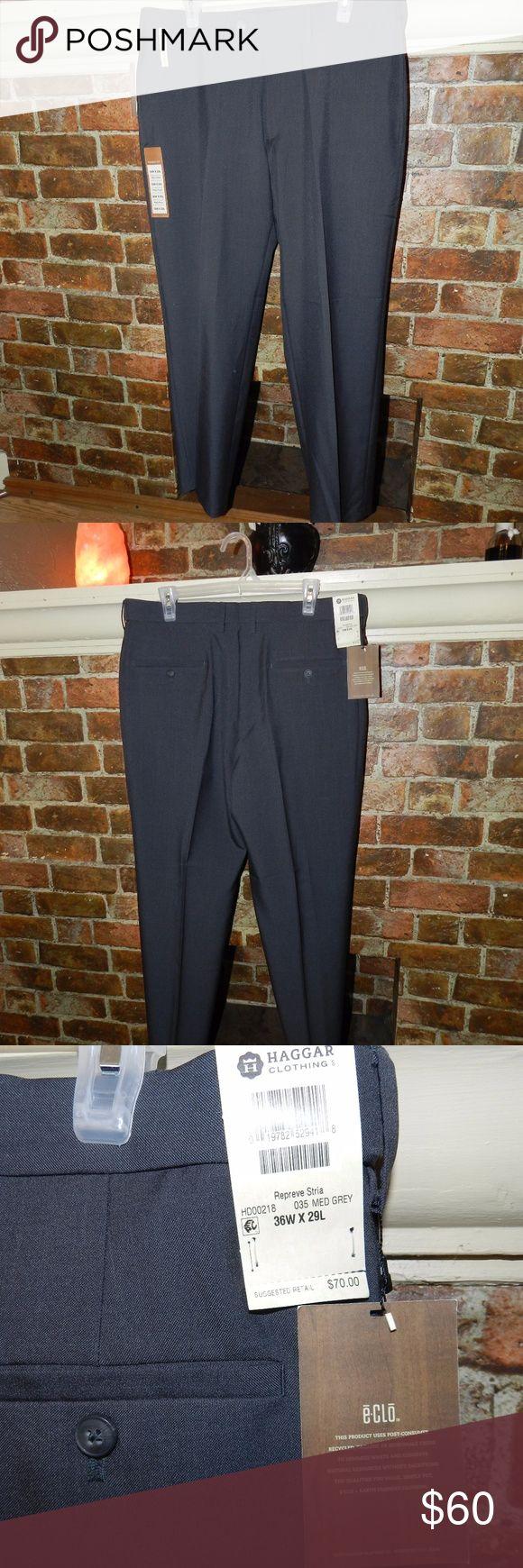 Haggar Dress pants NWT men's No Iron permanent crease  Dress pants in excellent condition 36WX29L Haggar Pants Dress