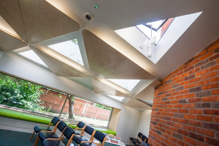 For this health centre in Suffolk, it was important that the rooflights appeared frameless from the inside and this was something the Rooflight Company were able to achieve through supplying five, bespoke triangular rooflights.    Read the full case study here - http://www.therooflightcompany.co.uk/beccles-health