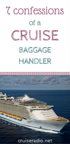 #cruise #baggage #vacation #confessions #cruising #ship