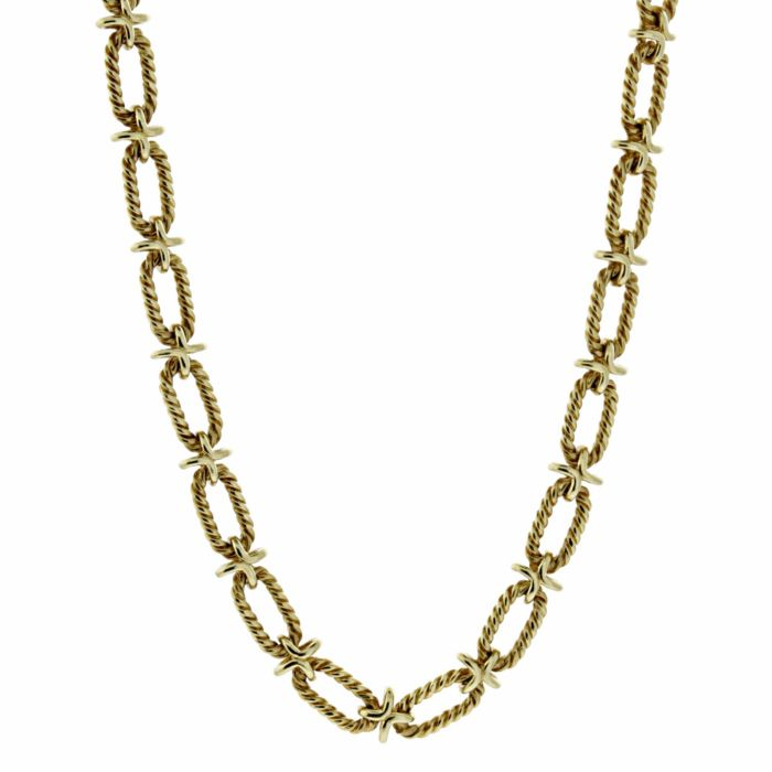 Tiffany & Co Woven Gold Sautoir Necklace | Opulent Jewelers | OpulentJewelers.com