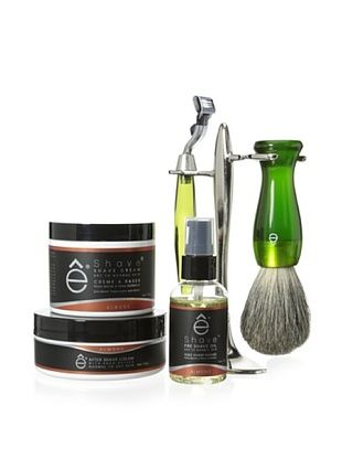 50% OFF eShave Deluxe 5-Piece Shave Kit with T Stand in Almond Scent, Green