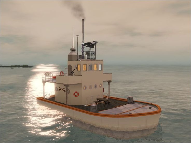"""It used to be a """"minesweeper"""", but now it is a houseboat for my sim!"""