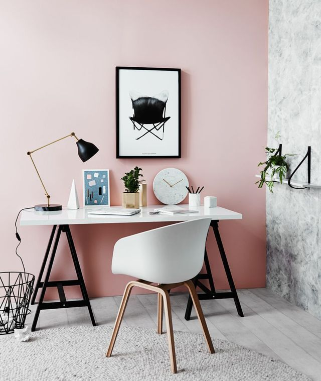 Pink Accent Wall 151 best pink office spaces images on pinterest | pink office