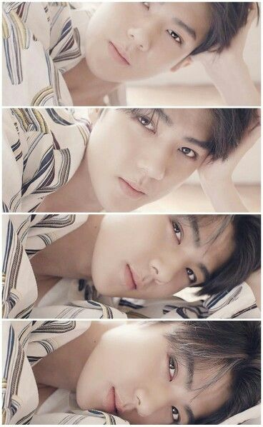 Sehun stares.....I can't handle it!!!