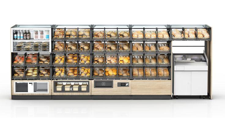 Box na pečivo BakeOff 3.0 je již třetí verzí tohoto super systémového nábytku, který zlepšuje hygienu prodeje pečiva.