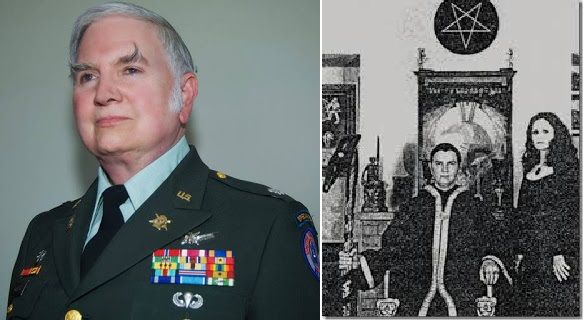 For those who don't know, Michael Aquino was a Psychological Warfare Specialist in the US Army from 1968 until 1990, when he was involuntarily discharged as a result of investigations into his involvement in the ritual sexual abuse of children at the Presidio Day Care Center in San Francisco. Throughout this same time, he has also been a devout satanist and self-confessed neo-Nazi. He joined Anton LaVey's Church of Satan in 1969, staying until 1975 when he left to start his own Temple of…